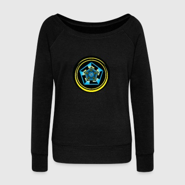 Crop Circle Pentagon Crop Circle  - Women's Wideneck Sweatshirt