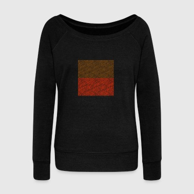 oblong Brown-red - Women's Wideneck Sweatshirt