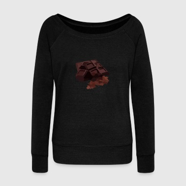 chocolate bar - Women's Wideneck Sweatshirt