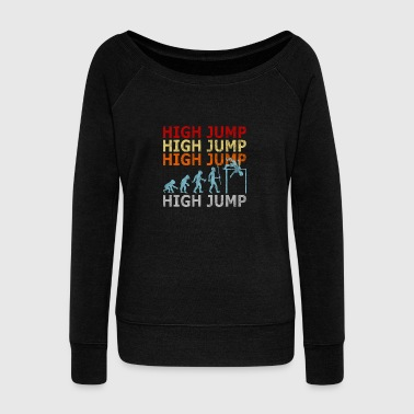 Retro Vintage Style High Jumping Jumper Athletics - Women's Wideneck Sweatshirt