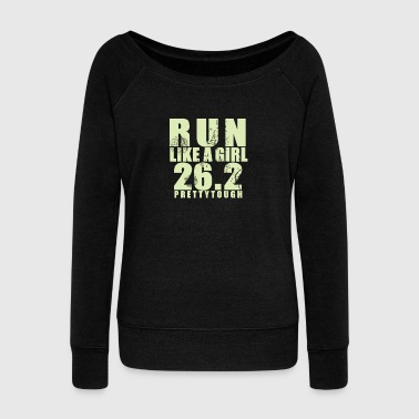 Run like a girl 26 - Women's Wideneck Sweatshirt