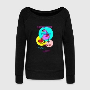 Flow SWAN LOVES DUCK - Women's Wideneck Sweatshirt