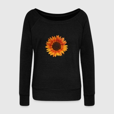 flower power - beautiful sunflower - Women's Wideneck Sweatshirt