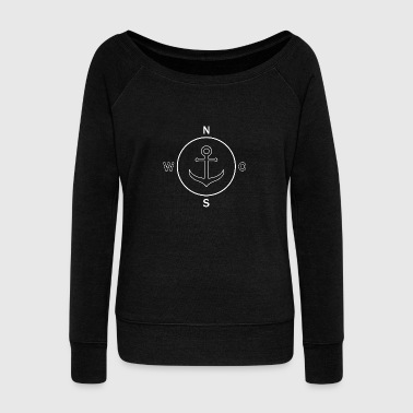 Anchor Compass - Women's Wideneck Sweatshirt