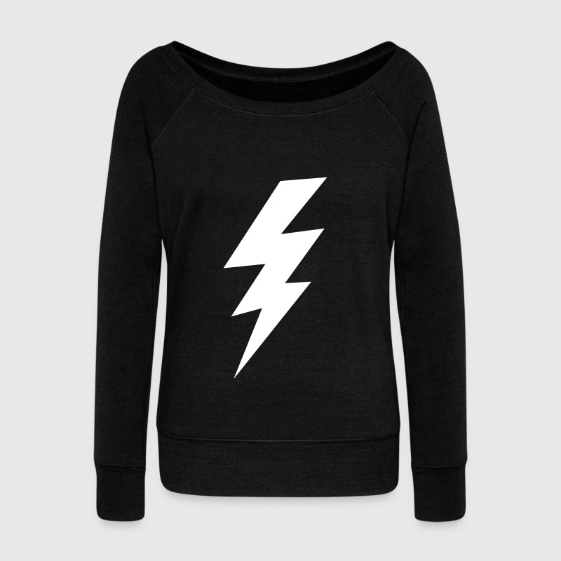 thunder lightning bolt flash - Women's Wideneck Sweatshirt