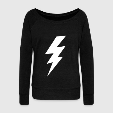 Lightning Bolt thunder lightning bolt flash - Women's Wideneck Sweatshirt