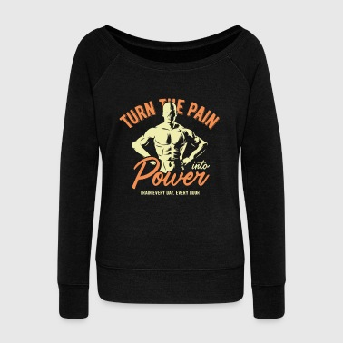 gym fitness training get big - Women's Wideneck Sweatshirt