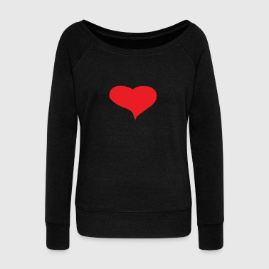 Cupid Me Plus A Dog Equals Love - Women's Wideneck Sweatshirt