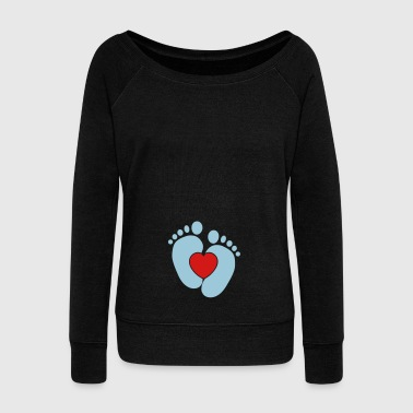 Baby heart feet - Women's Wideneck Sweatshirt