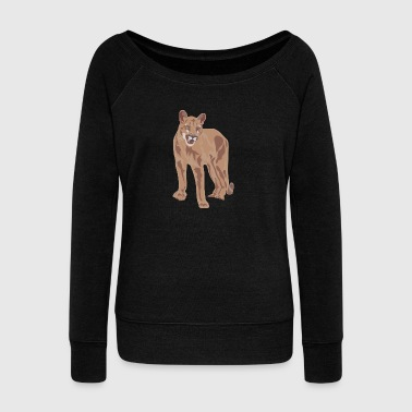 Bengal Tiger bengal tiger cat head sabre toothed15 - Women's Wideneck Sweatshirt