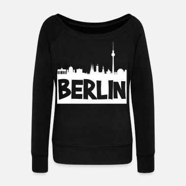 Skyline Of Berlin Skyline Berlin - Women's Wideneck Sweatshirt