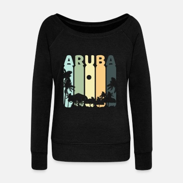 Aruba Aruba retro - Women's Wideneck Sweatshirt