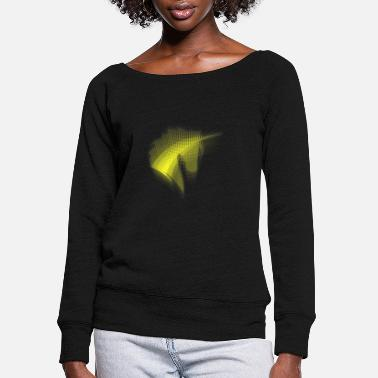 Beautiful Beautiful Unicorn Rainbow Power - Women's Wide-Neck Sweatshirt