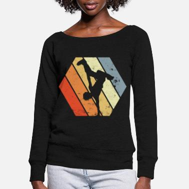 Dancing Teacher Breakdancer - Women's Wide-Neck Sweatshirt
