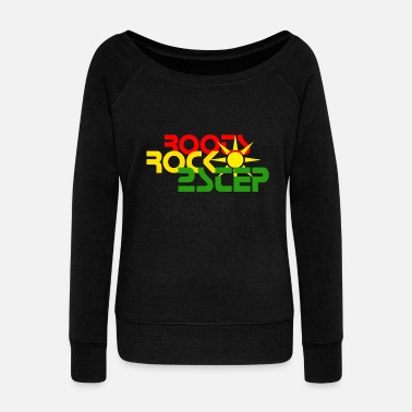 2step ROOTS ROCK 2STEP,DUBSTEP,TWO STEP,GARAGE - Women's Wide-Neck Sweatshirt