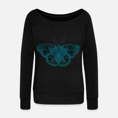 Butterfly butterfly - Women's Wide-Neck Sweatshirt