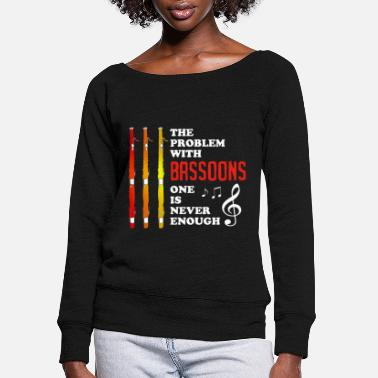 Octave Bassoon Player Bassonist Wind Instrument Tenor - Women's Wide-Neck Sweatshirt