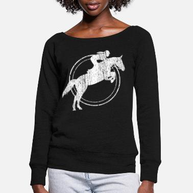 Show Jumping Show Jumping Horse Riding Rodeo - Women's Wide-Neck Sweatshirt
