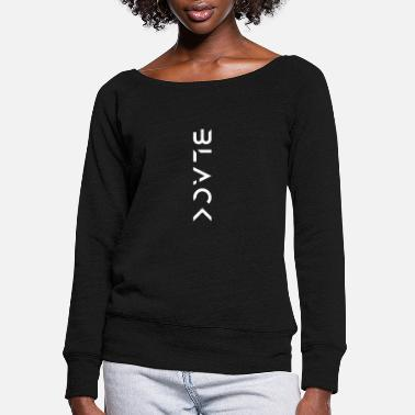 Futuristic Black - Women's Wide-Neck Sweatshirt