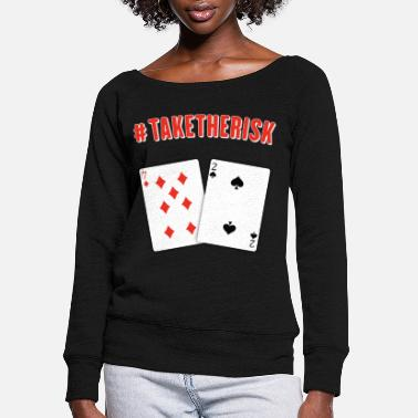 Royal Flush Poker Street - Women's Wide-Neck Sweatshirt