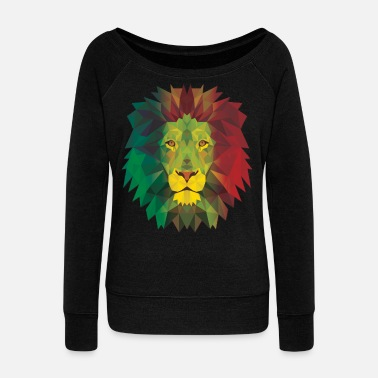 Rasta Rasta Lion - Women's Wideneck Sweatshirt