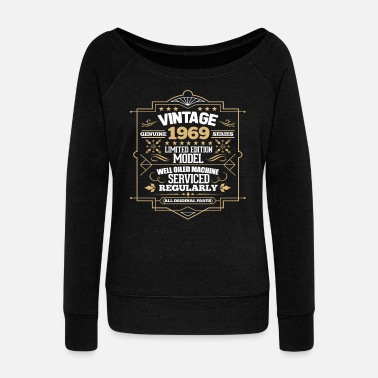 Year Of Birth 50th Birthday - Women's Wide-Neck Sweatshirt