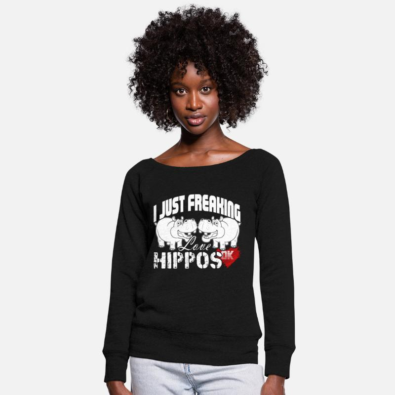 Because Hippos are Freaking Awesome Hippo Lover Women Sweatshirt tee