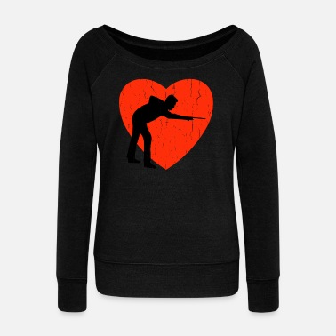 Black Sheep BILLIARD RETRO DESIGN - Women's Wideneck Sweatshirt