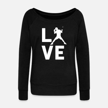 Africa TABLE TENNIS LOVE - Graphic Shirt - Women's Wideneck Sweatshirt