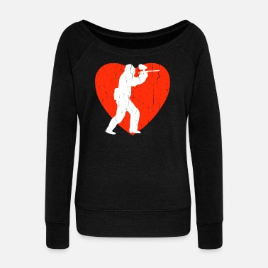 Heart Line Paintball - Women's Wideneck Sweatshirt