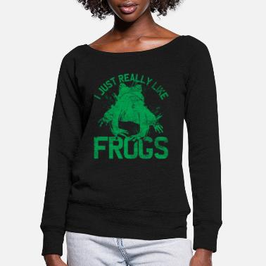 Frog Frog Lover - Women's Wide-Neck Sweatshirt
