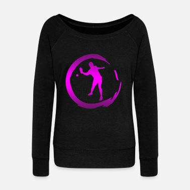 Table Tennis Player Table Tennis Table Tennis Player - Women's Wide-Neck Sweatshirt