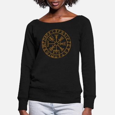 Viking Vikings Scandinavian Warriors Gift Idea - Women's Wide-Neck Sweatshirt