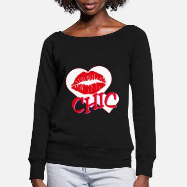 Chic Chic - Women's Wide-Neck Sweatshirt