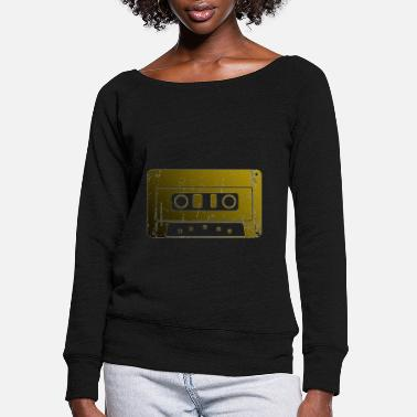 Cassette cassette - Women's Wide-Neck Sweatshirt