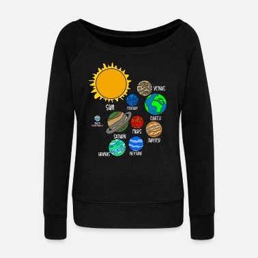Revolver Universe Planet - Women's Wideneck Sweatshirt
