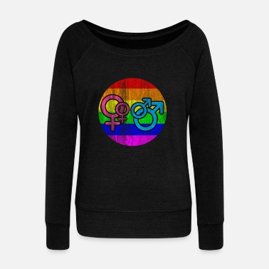 Street LGBT Men Women - Women's Wideneck Sweatshirt
