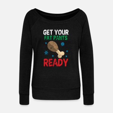 Over The Hill Winter Weight Gain Cold Christmas Gift - Women's Wideneck Sweatshirt