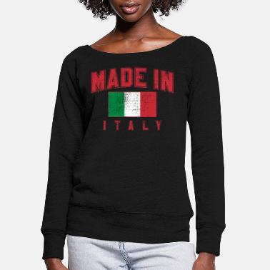Italy Made in Italy - Women's Wide-Neck Sweatshirt