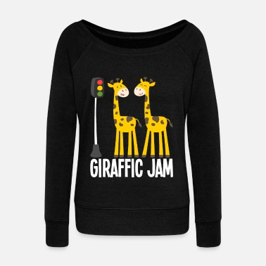 giraffic jam - Women's Wide-Neck Sweatshirt