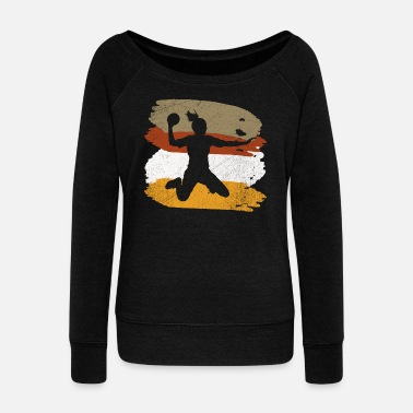 Handball handball player handball player gift - Women's Wide-Neck Sweatshirt