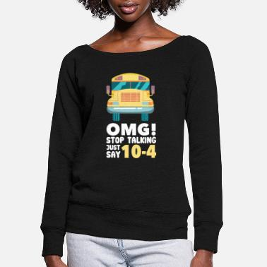 Headlights With Road Bus driver is my calling - Women's Wide-Neck Sweatshirt