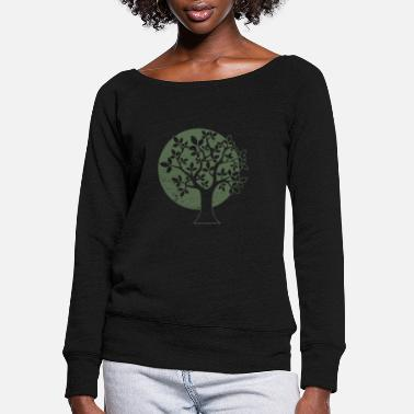 Tree Tree - Women's Wide-Neck Sweatshirt