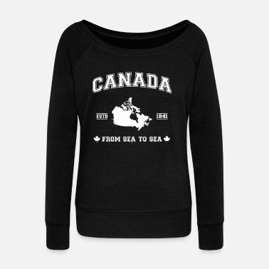Roots Canada Toronto Canada map - Women's Wide-Neck Sweatshirt