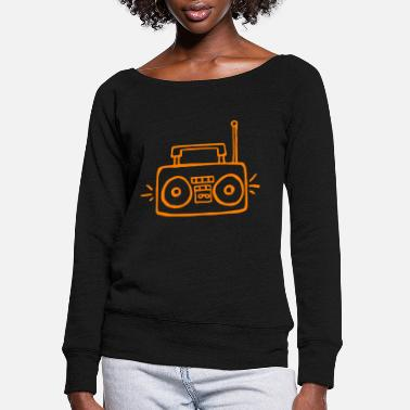 Radio radio - Women's Wide-Neck Sweatshirt