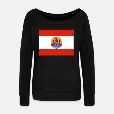 Polynesia French Polynesia Flag - Women's Wideneck Sweatshirt
