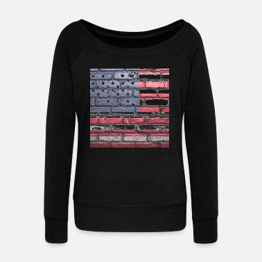usa - Women's Wide-Neck Sweatshirt