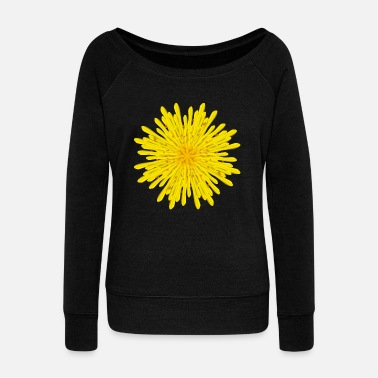 Blume Colorful blossom dandelion - Women's Wideneck Sweatshirt