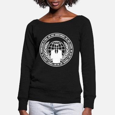 Anonymous Anonymous - anonymous - guy fawkes - we are ano - Women's Wide-Neck Sweatshirt