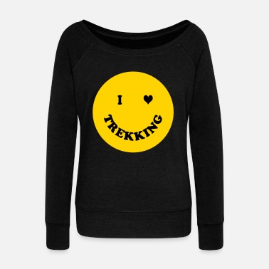 Trekking trekking - Women's Wide-Neck Sweatshirt